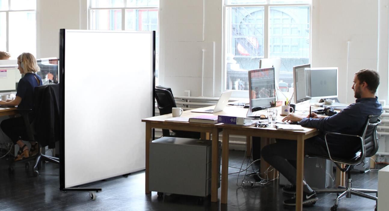 Movable Partition Wall: Series 750 in White