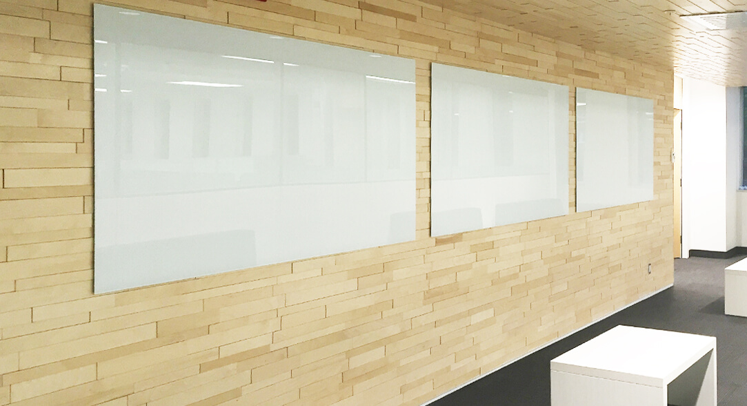 Magnetic Glassboards Back Painted White