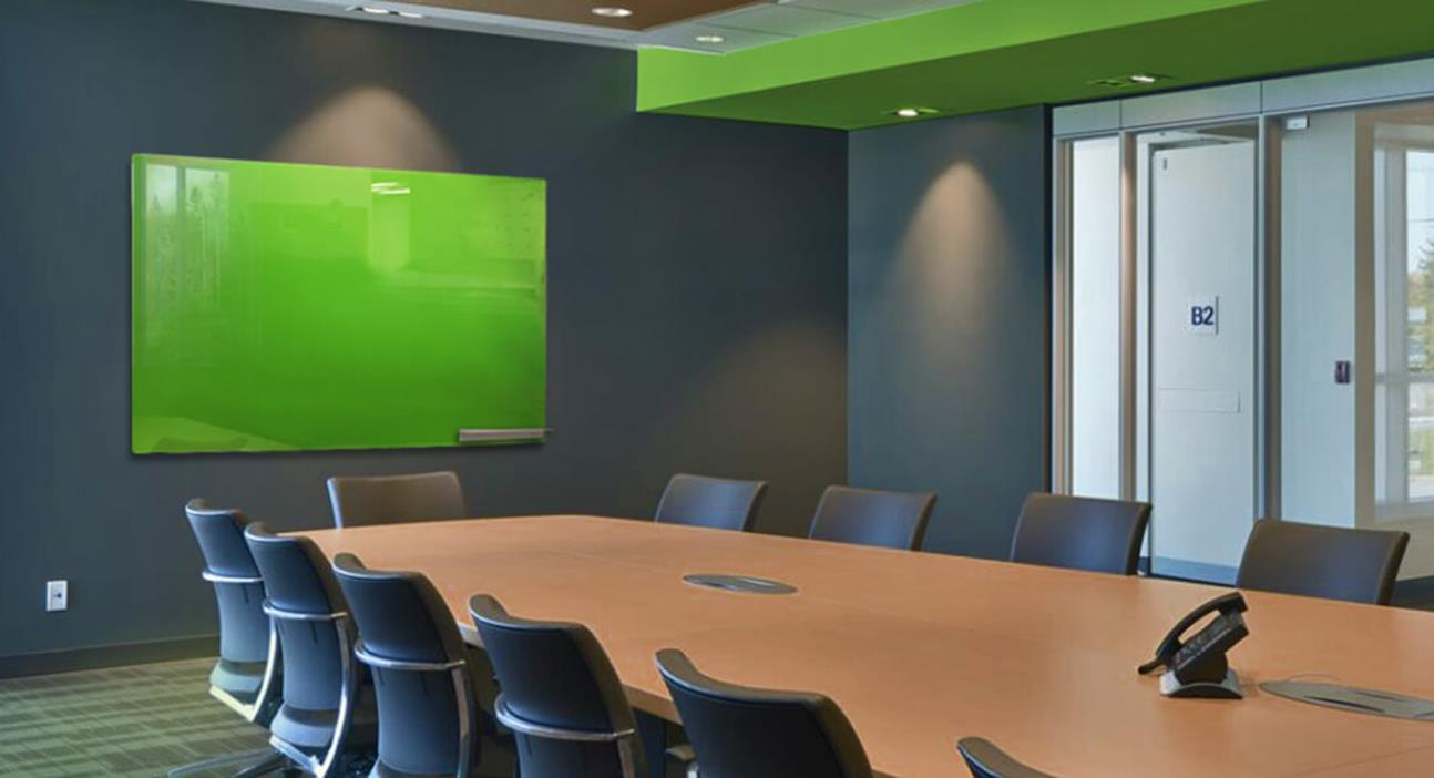 Magnetic Glassboard Back Painted Green (custom colour)